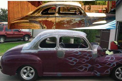 Jims Jim St Pierre's 46 Merc pre & post chop by Customikes =D