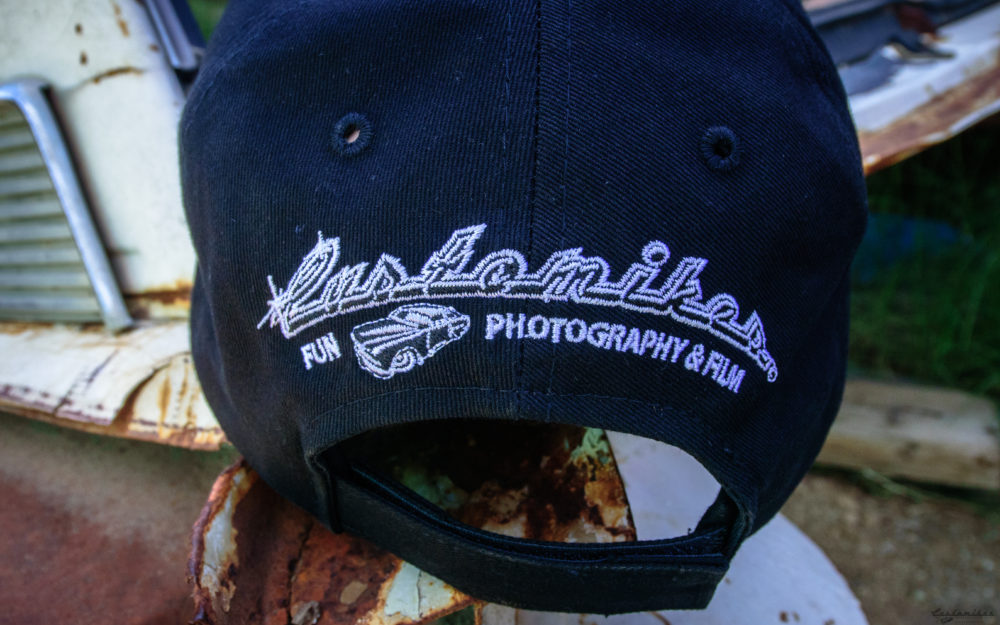 Customikes, kool, comfortable hat, in black. Featuring 100 % cotton with logo front and back.