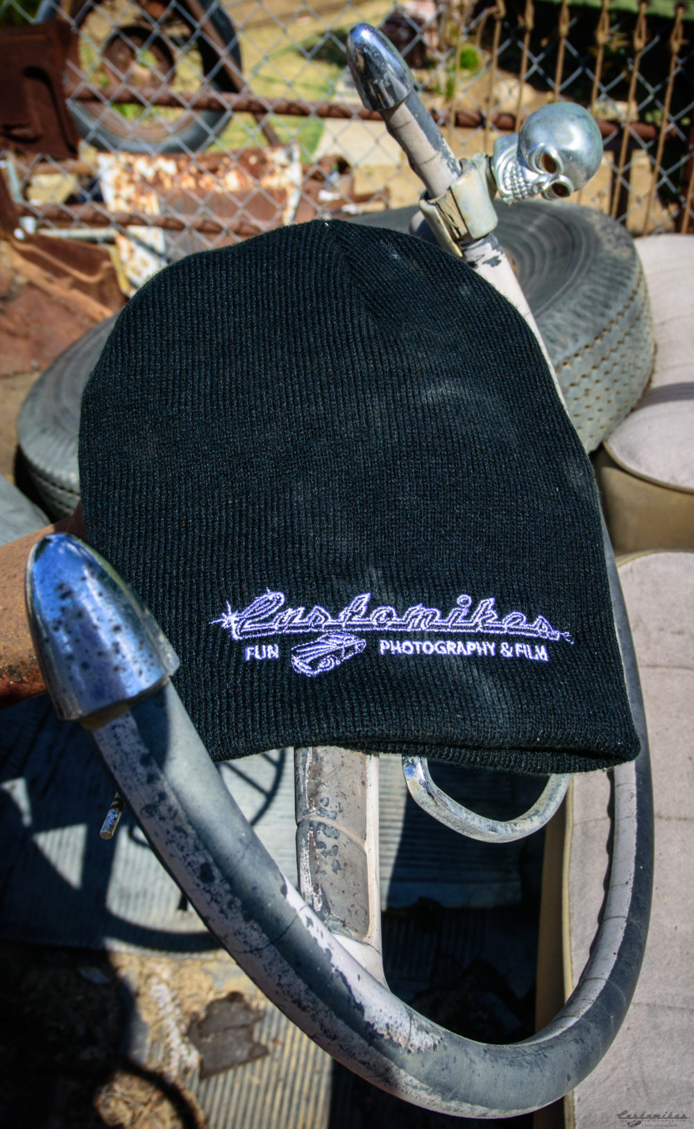 Customikes, hats, beanies, for sale, swag, baseball hat, Packard, steering wheel, skull, kustom