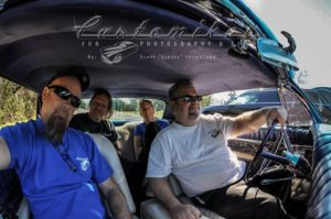 John, Scotto, Mike and Edie sporting Customikes Tees in a rad chopped 1962 Thunderbird