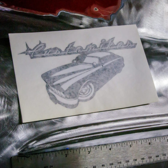 Customikes Sticker. Approx. 6 inches wide. $2.00 each