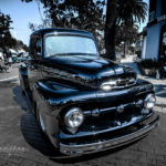 Ford, f-1, f-100, truck, black paint, show, main street Seal Beach,