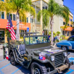 Jeeps, service member, military, camo, green, palms, flag