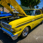 Ford, falcon, blown, super charged, yellow, mellow, street racer, mags