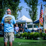 Fountain Valley Classic Car & Truck Show, Pete Haak, attendees, honoring, flag,, guard, anthem