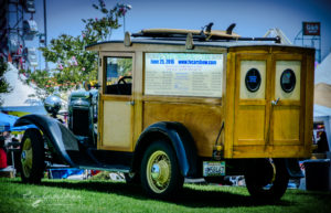Fountain Valley Classic Car & Truck Show, Pete Haak, awesome, woodie, model A, Ford, wagon, surfer special,