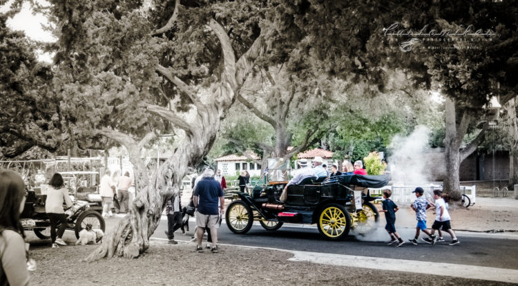 San Marino Classic, lacy park, fun, Stanley Steamer, Steam car, park, kids, driving, playing,