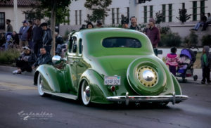 car show, West coast kustoms, cruising nationals, santa maria ca, coupe, green, 30's, 5 window, white walls tail dragger,