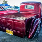 Rusted Development's Hot 1940, Truck, Kandy red, pick up, rick dore, rusted development, tv show, kustom, hoarder, -40, ford, Bob's Big Boy, Norco, discovery, bed, step side, tail gate, kool stance, mirror finish, show, paint, polished, shine