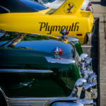 Church, car show, july, 4th, 2016, daytona, plymouth, yellow, wing, imperial, taillights,, breakfast