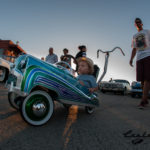 pedal car, flake paint, finned valve cover, chrome, www, wide whites, fools goldster, riverview lodge, chevy bomb, Scotto, Scott Strickland