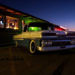 GMC, car show, slammed truck, grill, vintage bar and grill,Scotto, Scott Strickland