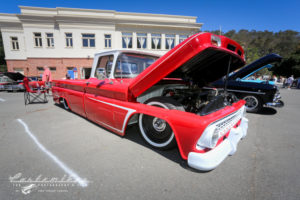 Awesome red truck,Custom, - Johnny, John Lemoine, Customikes, Port Costa, 105 year old School House