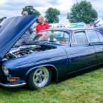 Jaguar, s type, pro street, www.customikes.com, K. Mikael Wallin, old warden, park, NSRA UK, Supernationals, blue sky, clouds