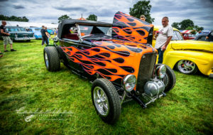 32, ford, roadster, moon tank, flames, big n little, old warden, UK, NSRA, shot by K. Mikael Wallin, Customikes