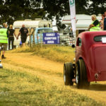 hot rod, fender less, chopped, sedan, rollin' in, Old Warden Park