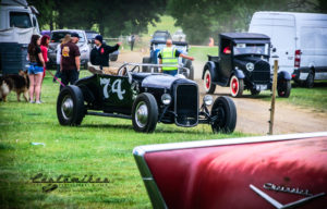 NSRA Volunteers, drive in, hot rods, 57 chevy fin, emblem, model a, people, customikes.